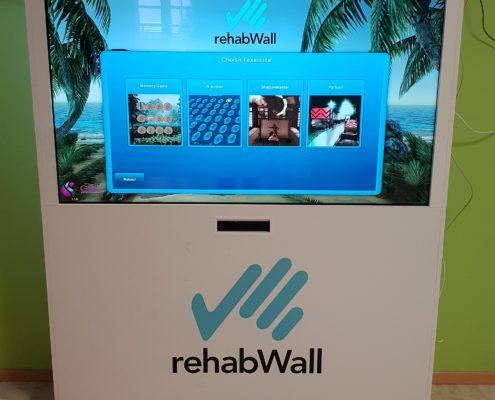 mur interactif rehabwall ehpad