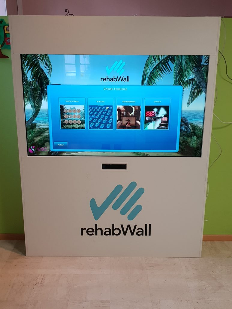 mur virtuel rehab wall